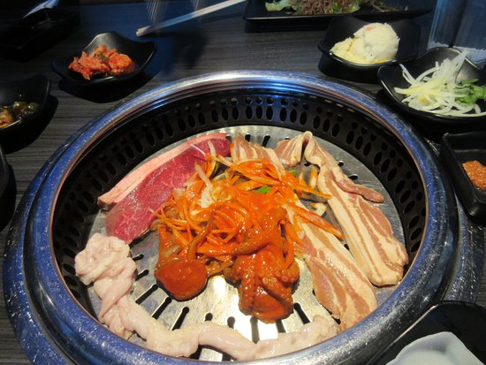 Gen Korean Bbq House Small Intestine Steak Octopus And Pork Belly