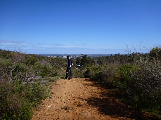Perth Hills, Australia: uphill climb on the bikes