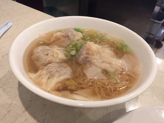 Alhambra, CA: Wonton soup with noodles