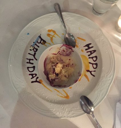 Tilleys Bistro: Complimentary birthday desert