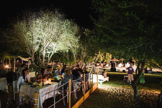 Resort Le Saline Palau : Bar sulla spiaggia a 200 metri dalle ville