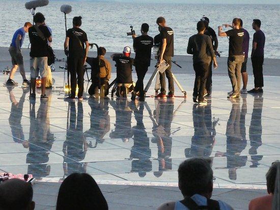Paseo Maritimo: zum Sonnenuntergang, Zadar, ist echt was los