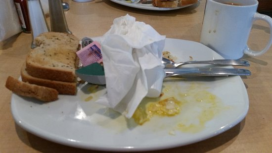 Matamoras, PA: What's left of breakfast. ...