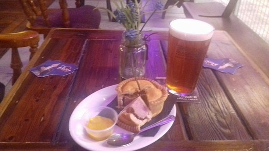 Bolton, UK: Pork pie and a pint of real ale for £5.95.