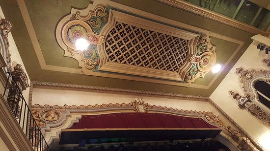 Saenger Theatre: Ceiling detail above stage