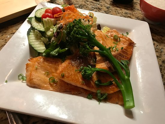 Big Grilled Salmon Dinner Picture Of Tokyo Bistro Coos Bay
