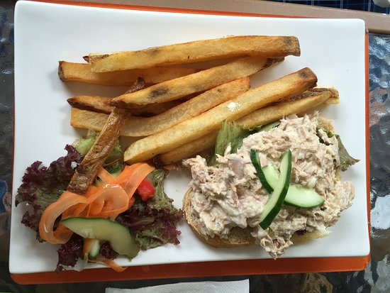 Holetown, Barbados: Our open sandwiches are very popular