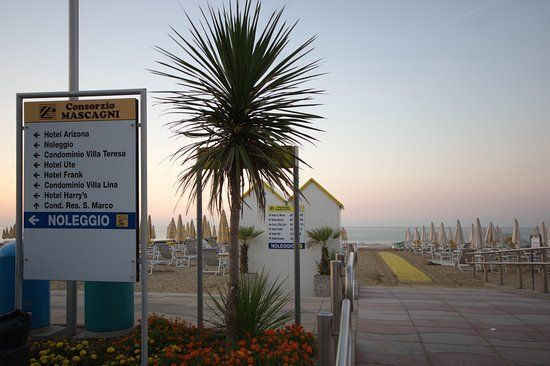 Hotel Frank: вход на пляж