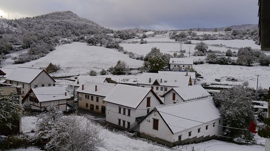 Abaurrepea, España: nieve