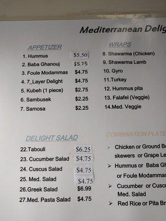 Mediterranean Delight: Menu