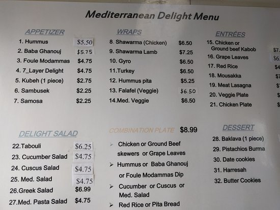 Oak Ridge, TN: Menu