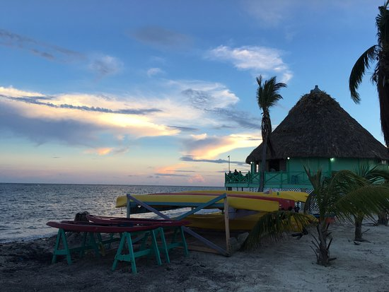 Turneffe Island, Belice: The pulapa bar where Mr. Oscar reigns