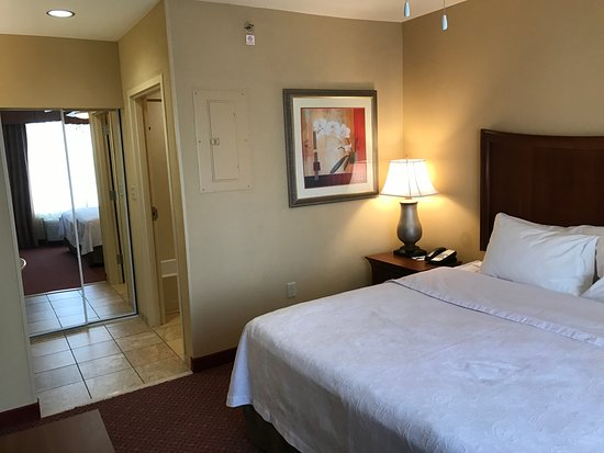 Homewood Suites Decatur-Forsyth: Bath and closet off of bedroom suite