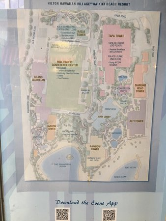 Grand Waikikian by Hilton Grand Vacations: Map showing layout