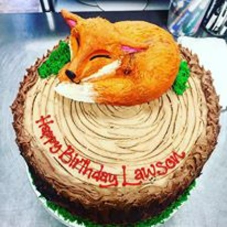 realistic fox birthday cake picture of cake placid lake placid