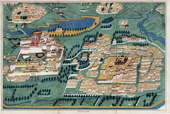 Map of Lhasa Picture of Rubin Museum of Art New York City