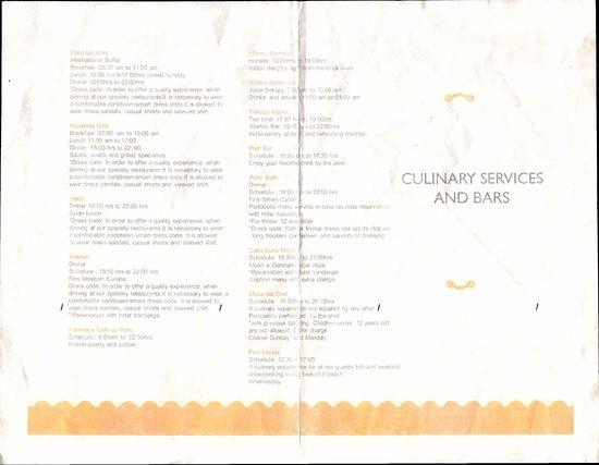 hacienda tres rios image of restaurant schedules page 1