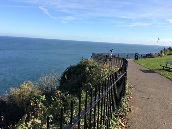 The Downs, Babbacombe: View over beach at Babbacombe.