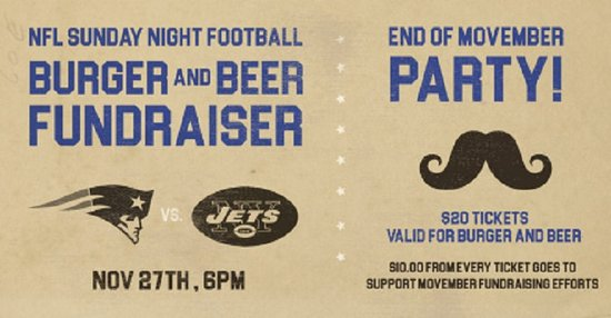 Surrey, Kanada: The JRG Public House End Of Movember Fundraiser Party