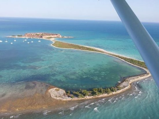 Tortugas Banks: From our plane on the way to visit