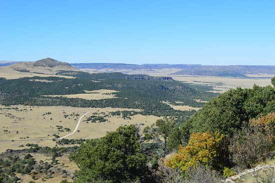 Capulin, Nuevo Mexico: beautiful view from the top