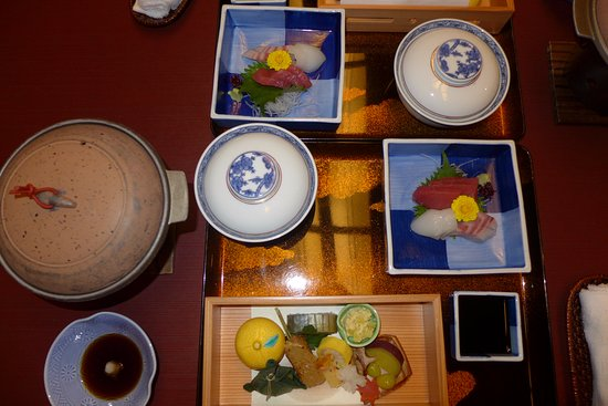 Ohanabo: Part of the dinner served in the room