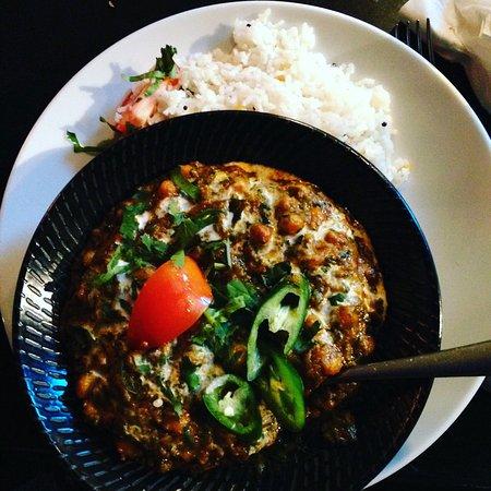 Kaali Gourmet Indian Restaurant: Vegan Salan with Coconut Rice