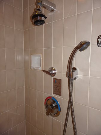 over bath shower and seperate shower pull out the temperature