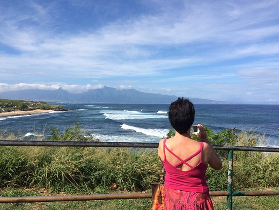 Paia, Havai: Watching the surfers