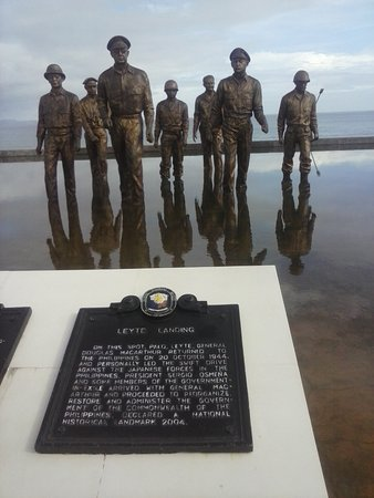 Leyte Island, Filipiny: A bit of history to be read.