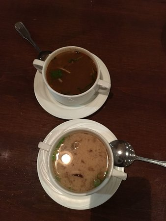 Devon, PA: miso and thai fire soups