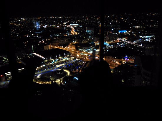 This is the view you'll have from room 7006 on the 70th floor late at night.