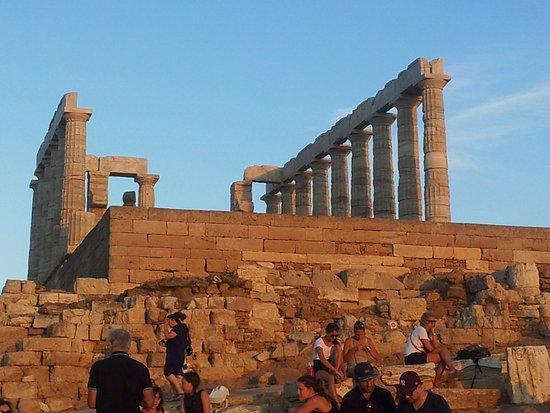Marathon, Grécia: temple de poseidon