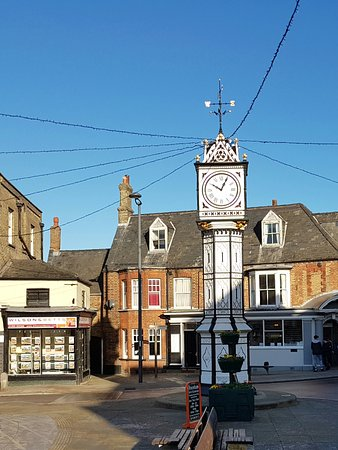 Downham Market, UK: Town Square Clock