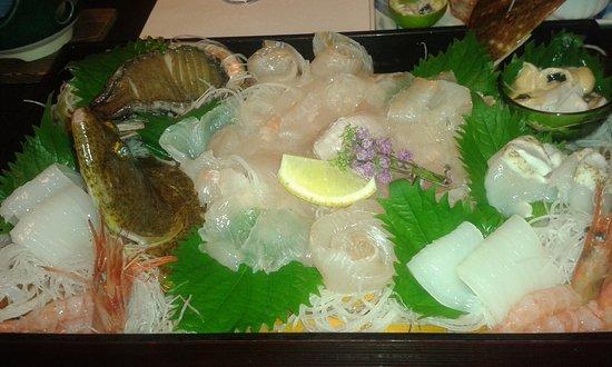 Wakasa-cho, Japón: sashimi
