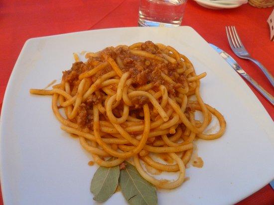 Cotto E Crudo: Pici with boar sauce