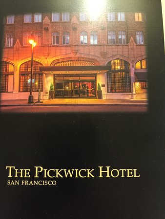front picture of the pickwick hotel san francisco san. Black Bedroom Furniture Sets. Home Design Ideas