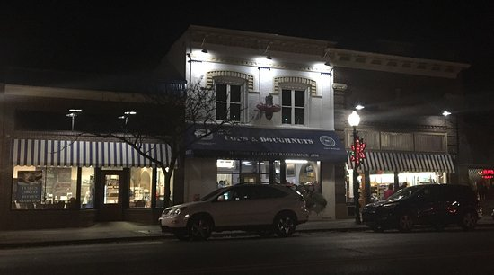 Clare, MI: Facade remodel in the evening