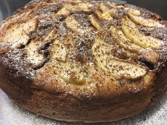 Pangbourne, UK: Special: torta alle mele e Nutella con crema al mascarpone
