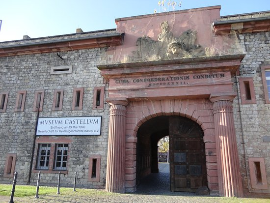 Mainz-Kastel, Duitsland: マインツ・カステル駅側のミュージアムの入口