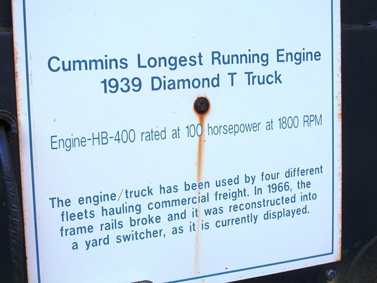 Jerome, Αριζόνα: Cummins Longest Running Engine