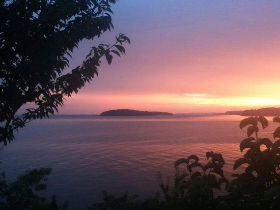 Sechelt, Kanada: Sol sunset!