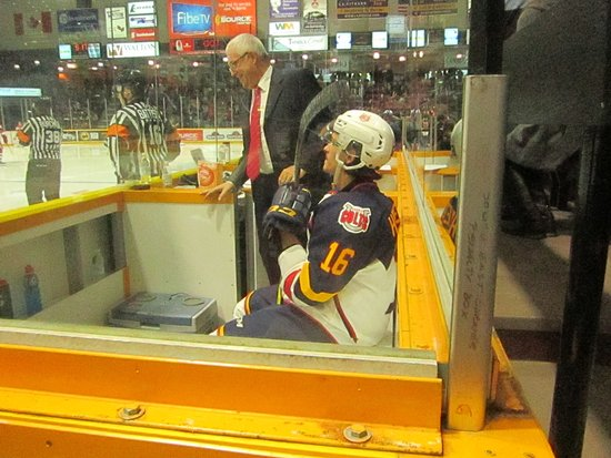 "Barrie, Canada: ""No matter how long your stick is you can't score from the penalty box"" Remember that Ben"