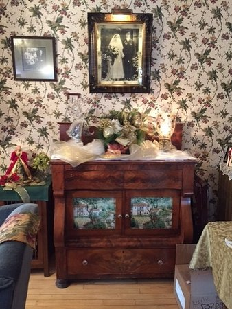 Westby, WI: Decorated area in living room main house.