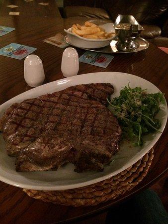 St Ives, UK: T bone steak