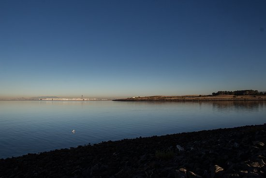 San Leandro, CA: Beautiful view of the bay as we walked around the marina area.
