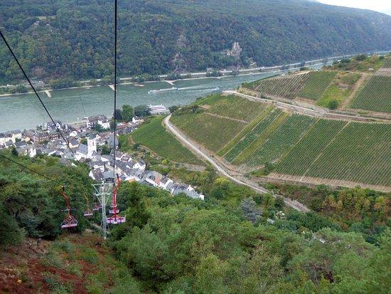 Niederwald Chairlift Assmannshausen on the Rhine照片