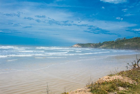 Imbituba, SC: Vista da praia.