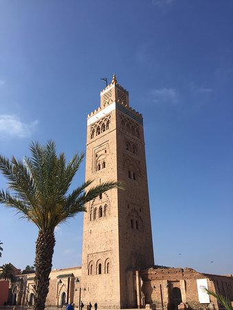 koutoubia mosque minaret picture of koutoubia mosque and. Black Bedroom Furniture Sets. Home Design Ideas