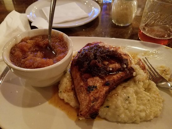 Perrysburg, OH: Pork chop with cheese risotto